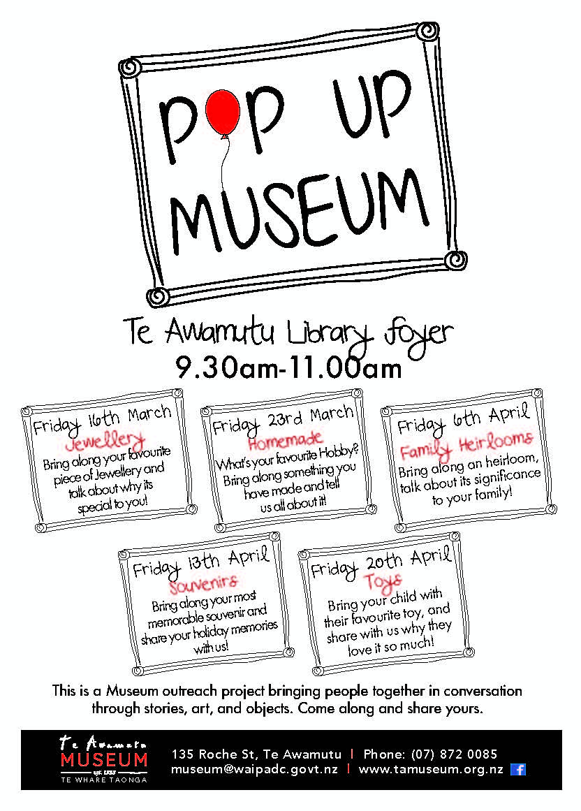 Pop Up Museums are coming!