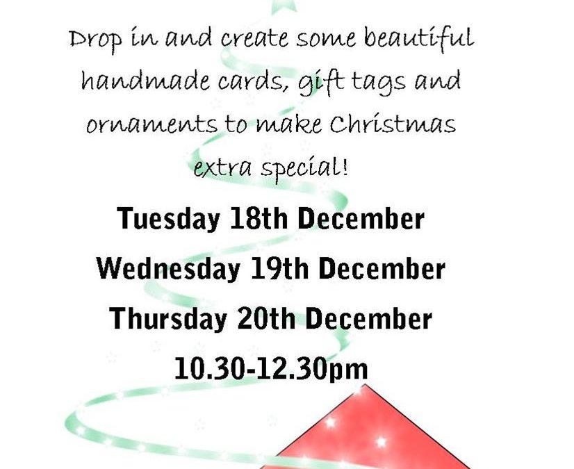 Christmas Craft Workshops – COMING SOON!