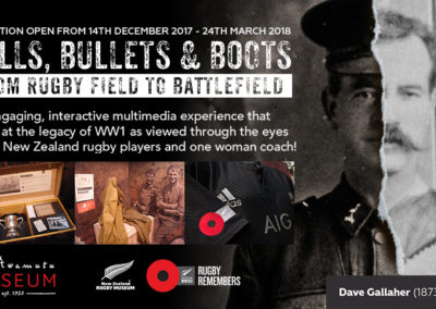 Balls, Bullets & Boots: From Rugby field to Battlefield