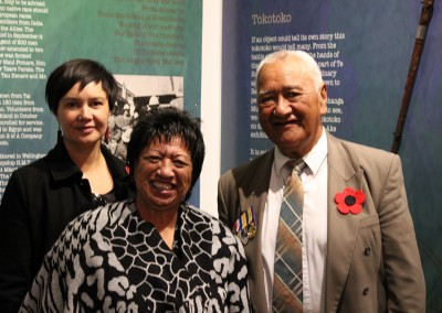 Whanau members at the exhibition opening